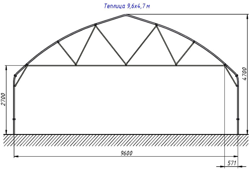 Теплица шириной 4 метра своими руками
